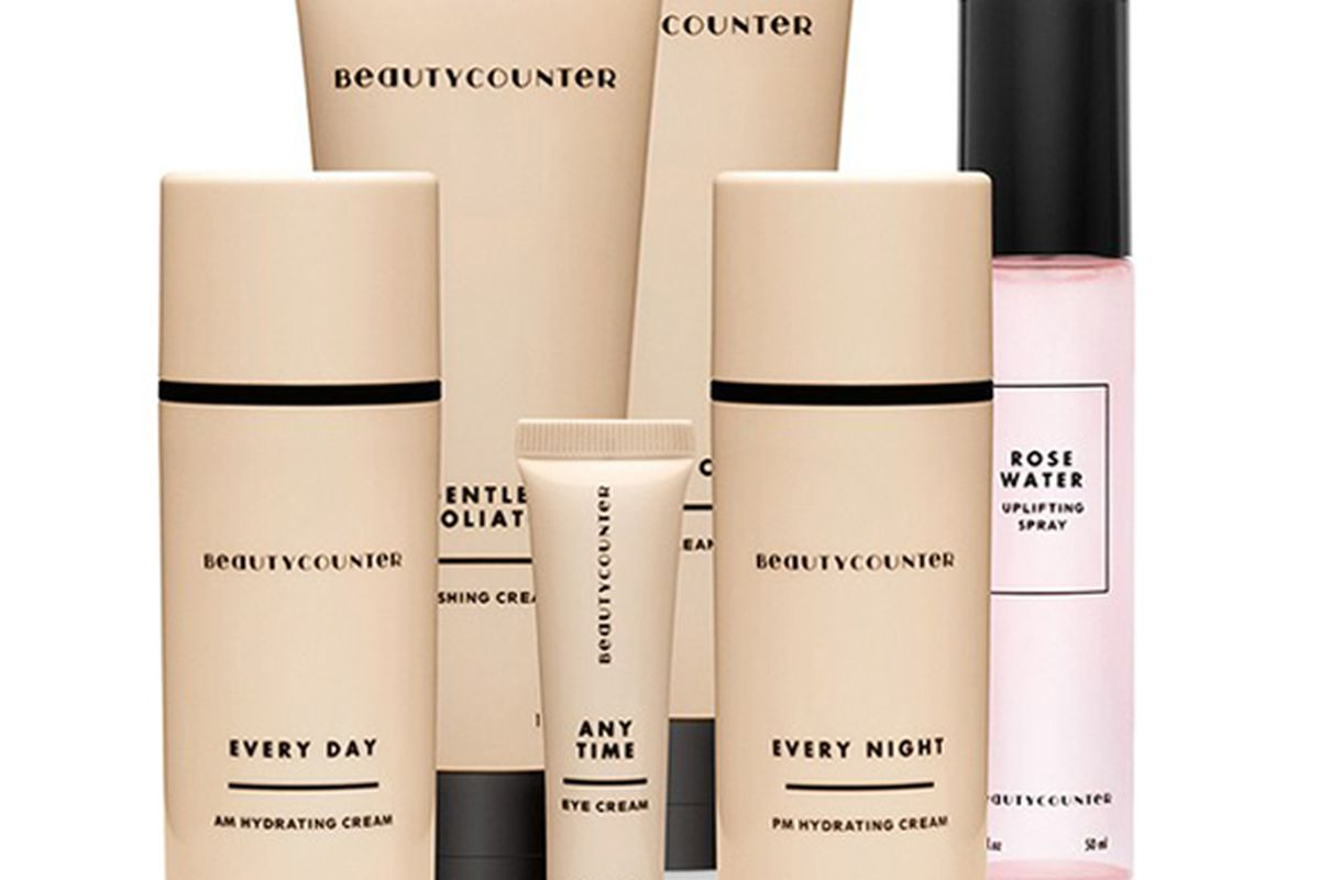 """Beautycounter Face Collection, <a href=""""http://shop.mrkate.com/products/beautymarks-001"""">$185</a>"""