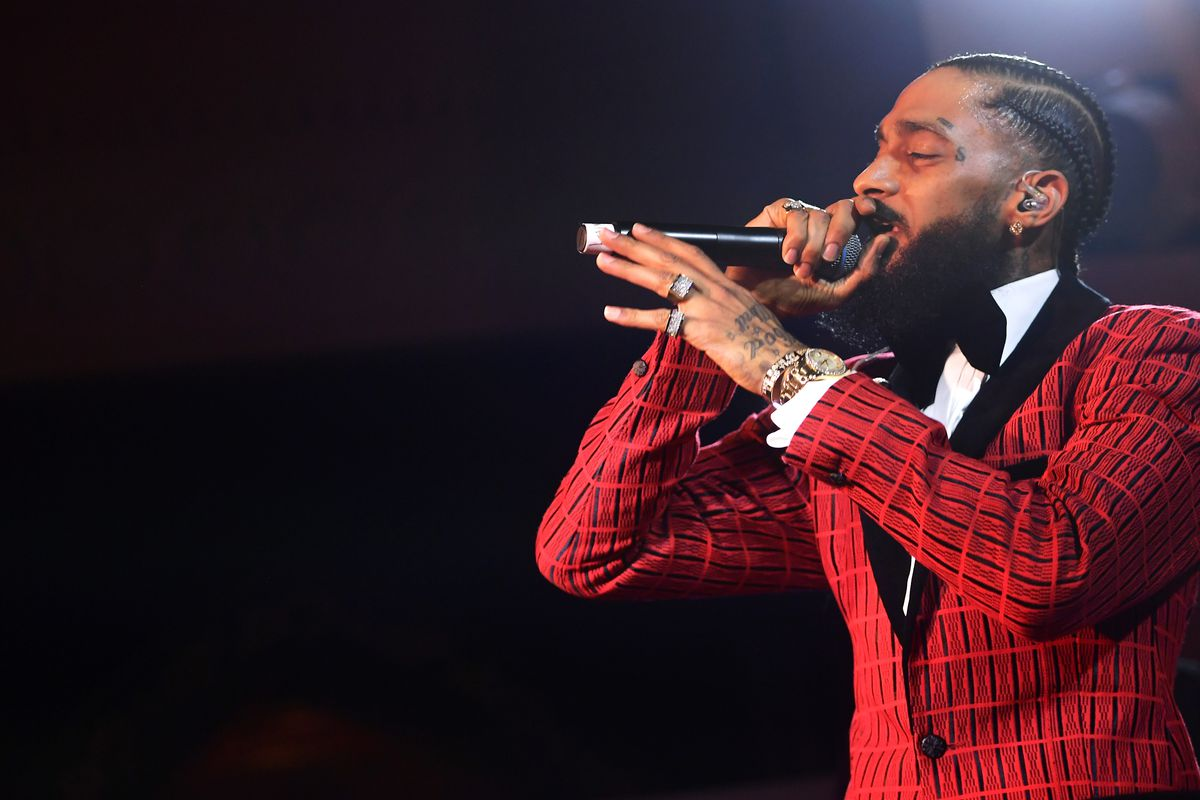 Nipsey Hussle, who was shot and killed later in 2019, performing in February 2019 in Los Angeles.