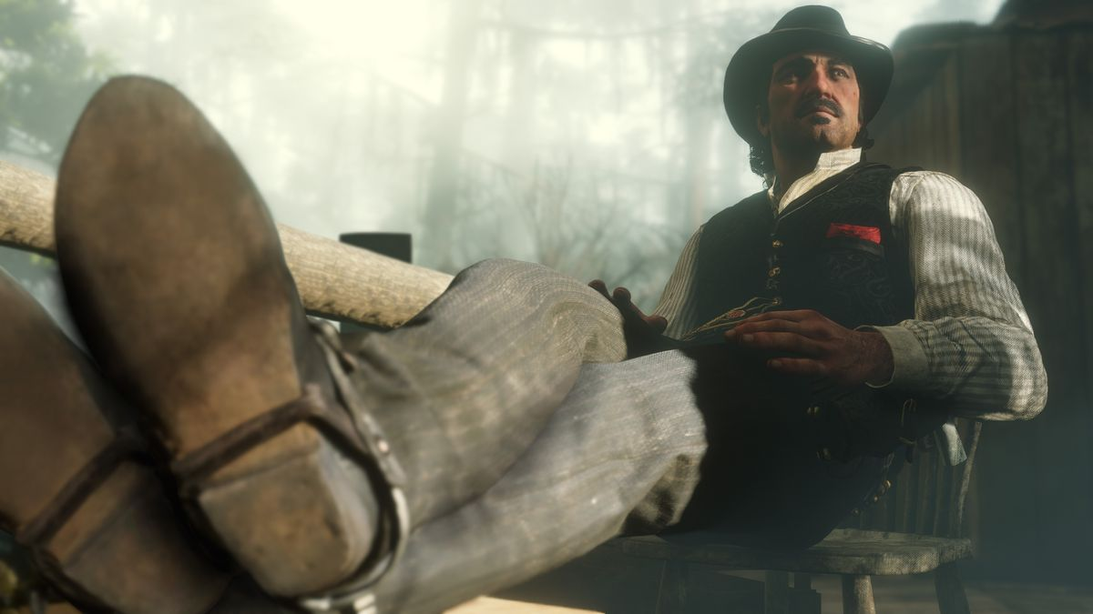 Red Dead Redemption 2 - Dutch sitting with his feet up