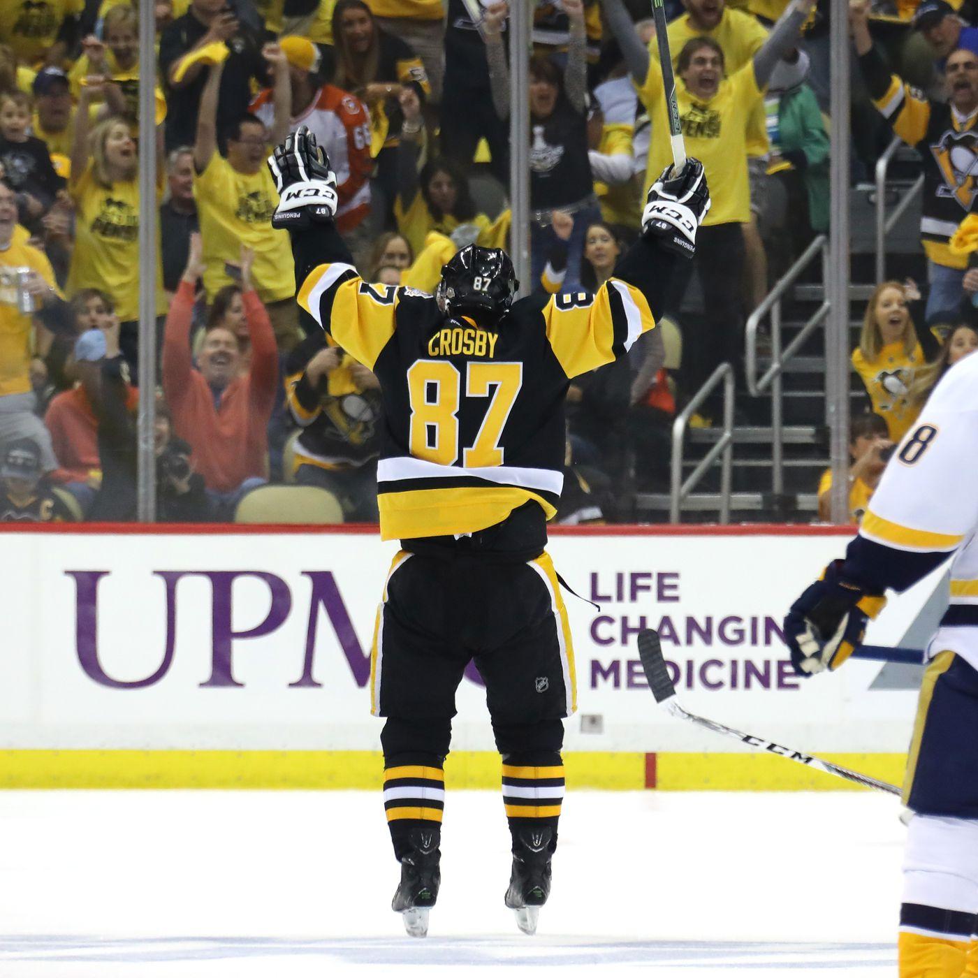 pretty nice fcce1 51a9c Predators vs. Penguins 2017: Sidney Crosby win away from ...