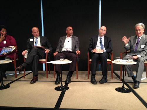 Panelists at an event hosted by Philanthropy New York, which commissioned a series of report on New York City education this fall.