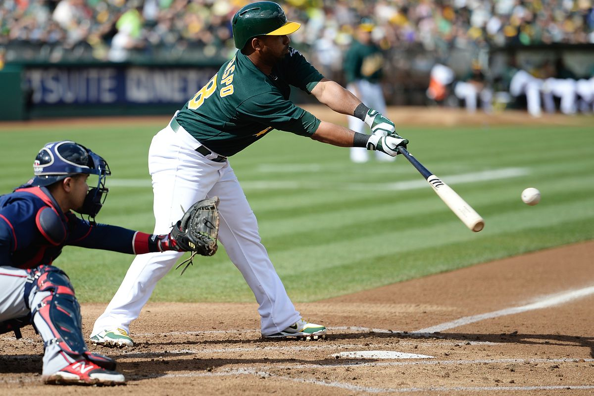 Callaspo even got a hit on this swing. That's how locked in he is.