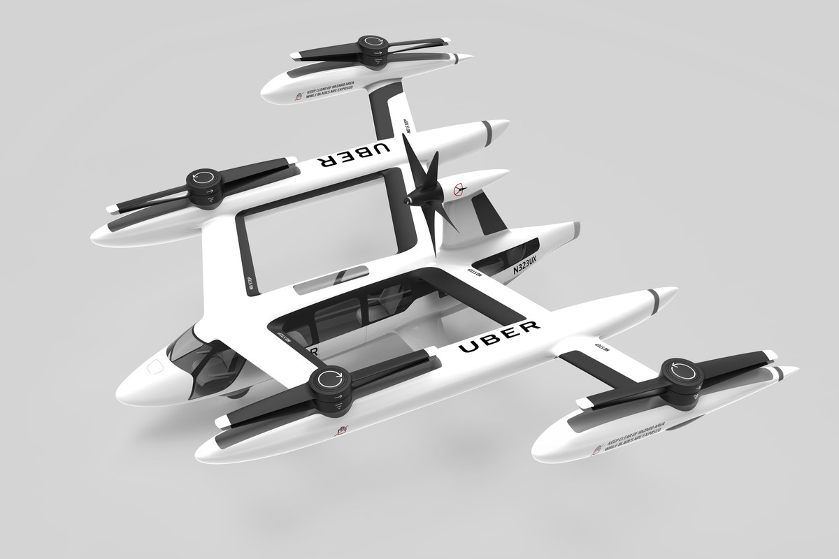 """What Kind Of Cars Does Uber Use >> Uber reveals its latest """"flying car"""" prototype for aerial taxi service - The Verge"""