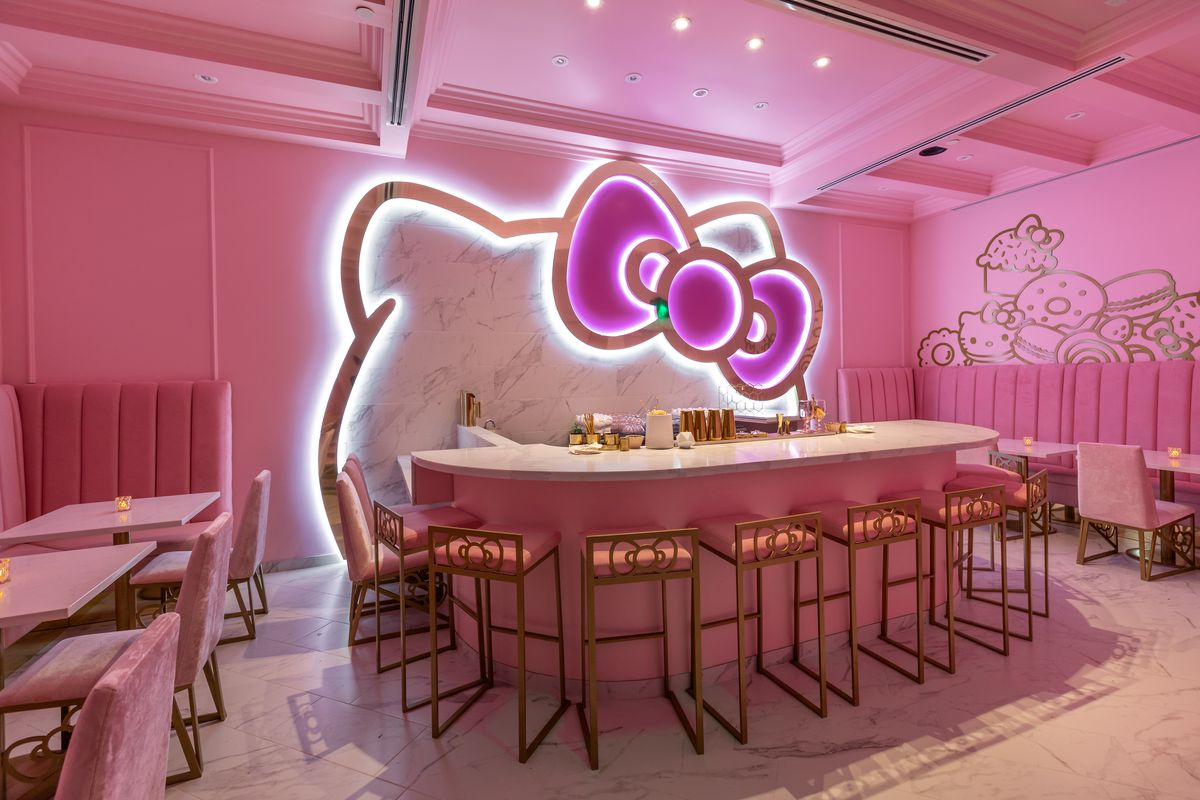 Hello Kitty Opens A Pretty Pink Cafe Tea Room And
