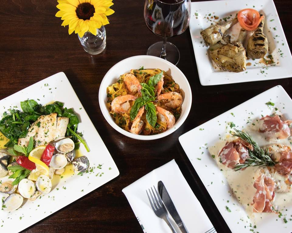 Dishes at It's Italian Cucina