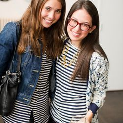 Styleite's Julia Rubin, right, with a friend