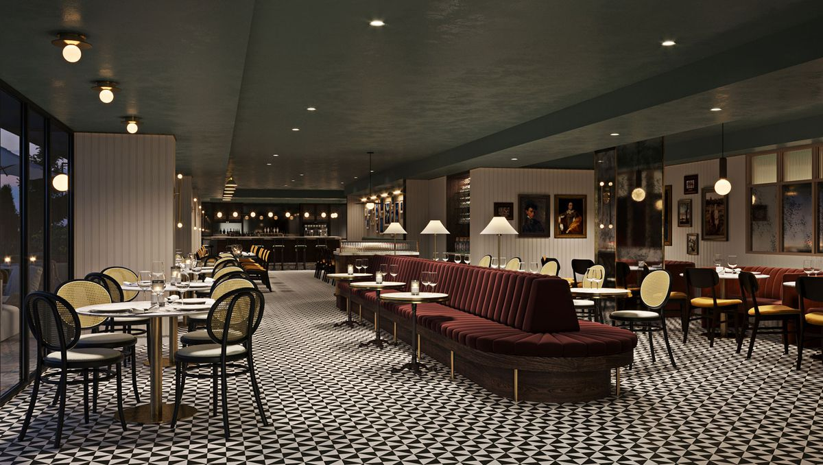 A rendering of the dining room at Le Sel