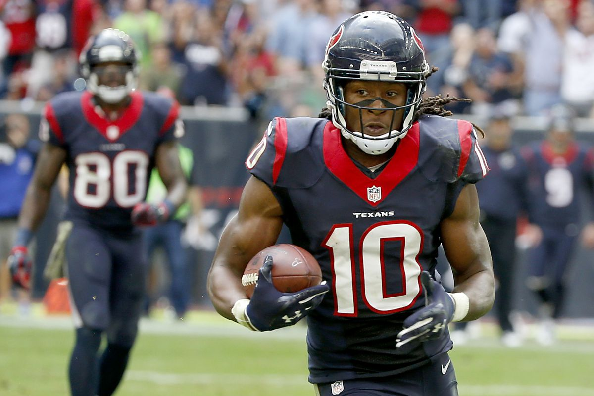 DeAndre Hopkins had a career game as Houston obliterated the hapless, sad Tennessee Titans 45-21
