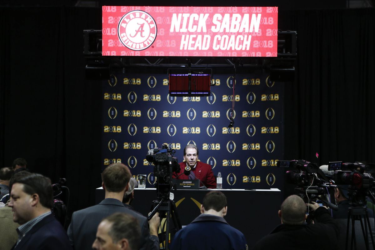 Saban, Smart meet with media ahead of Monday night clash