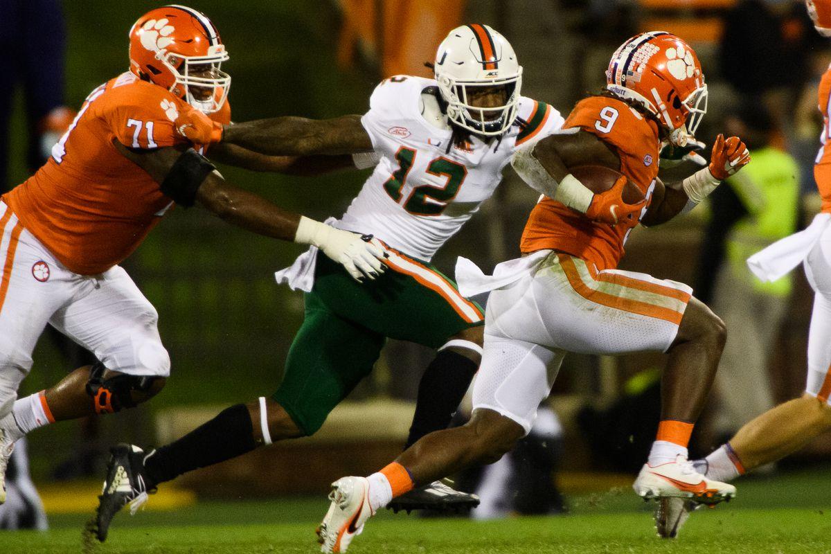 NCAA Football: Miami at Clemson