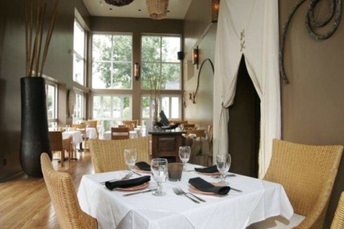 The dining room at 10 Degrees South.