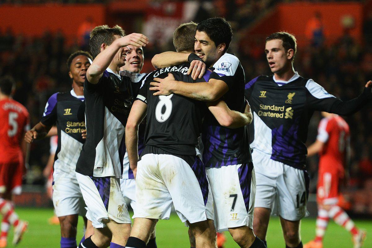 Photobombing Liverpool FC style. Beat that Ellen.