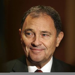 Gov. Gary Herbert is interviewed during the Governor's Utah Economic Summit in Salt Lake City Friday, April 15, 2016.