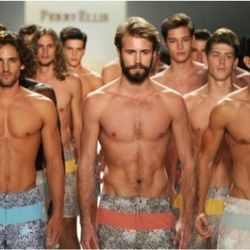 The beefcake at Perry Ellis. Photo credit: Getty Images