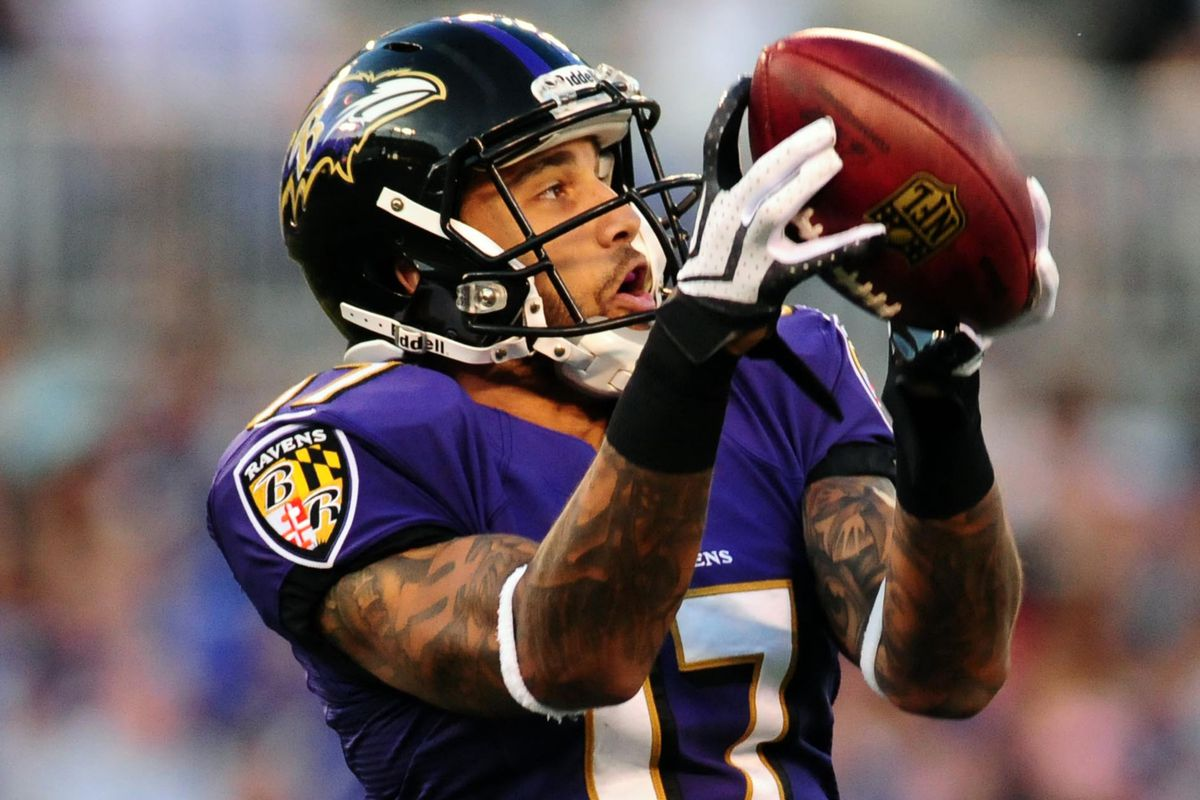 Ravens' WR Tandon Doss in the second preseason game against the Atlanta Falcons.