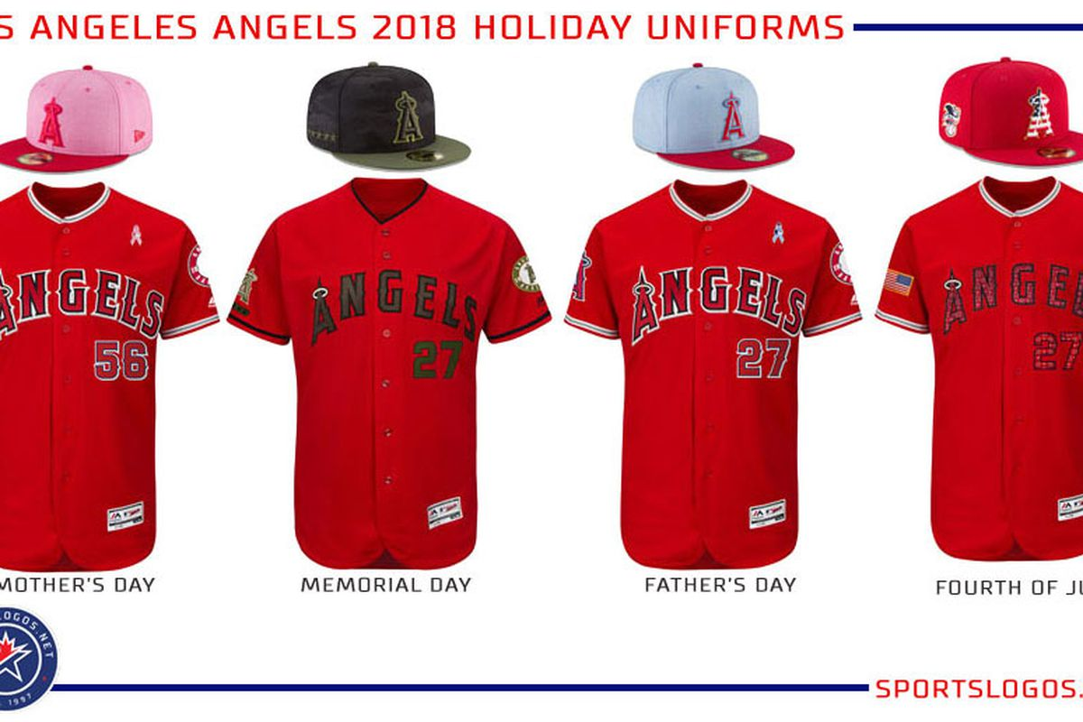 2018 Angels special event jerseys 659d31f5251