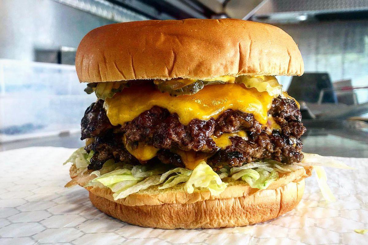 A burger from Jewboy Burgers