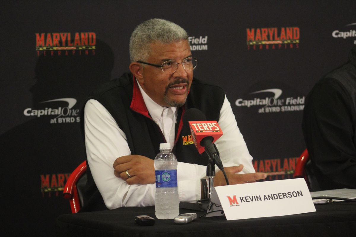 Maryland athletic director Kevin Anderson announced Randy Edsall's firing on Sunday.