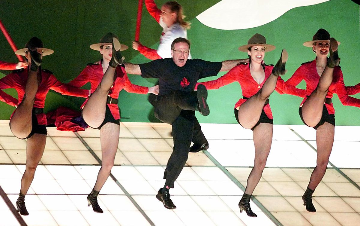 """Robin Williams performs the song """"Blame Canada"""", a"""