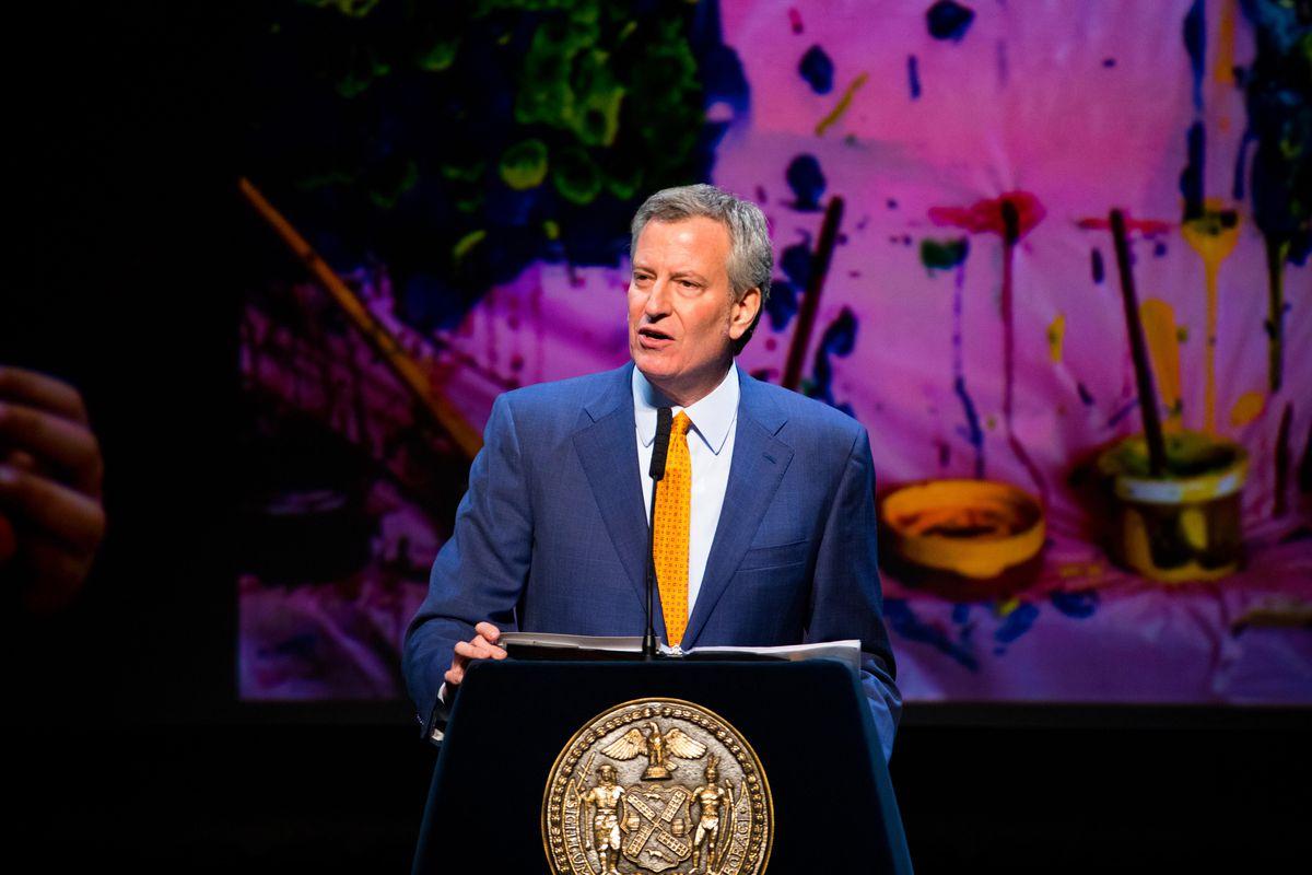 New York City Mayor Bill de Blasio earlier this year.