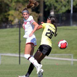 Utah's Brianna Pearson plays against Oregon on Oct. 6, 2019 in Salt Lake City.