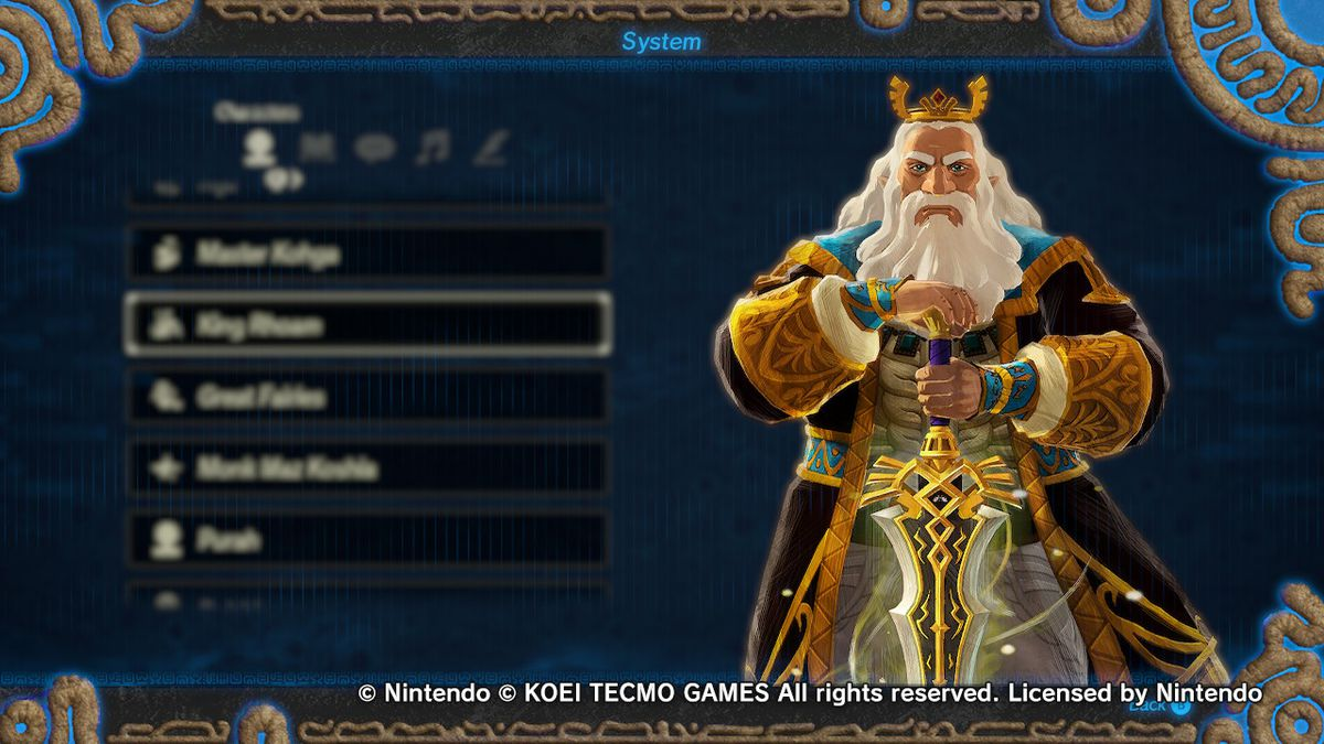 King Rhoam from Hyrule Warriors: Age of Calamity