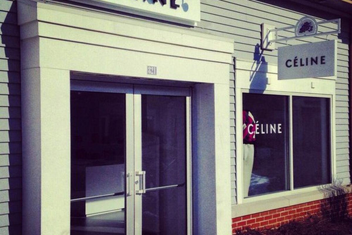 """The recently opened Céline outlet in New York, via <a href=""""http://ny.racked.com/archives/2014/03/12/your_prayers_answered_a_celine_outlet_opened_at_woodbury_common.php"""">Racked NY</a>"""