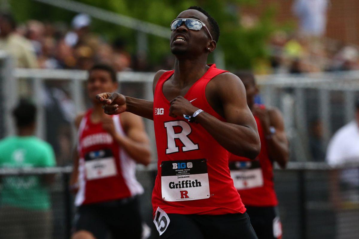 400 m qualifier Jermaine Griffith