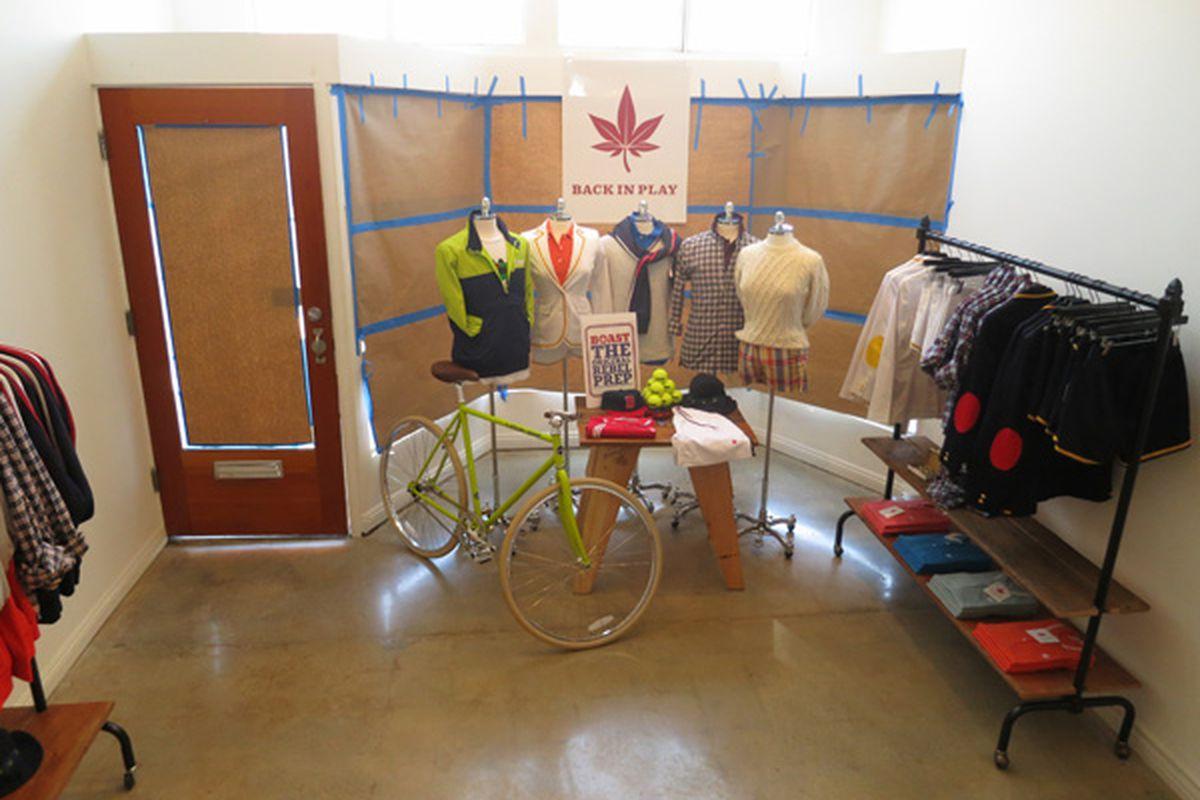 A sneak peek inside the pop-up shop. Image via Boast