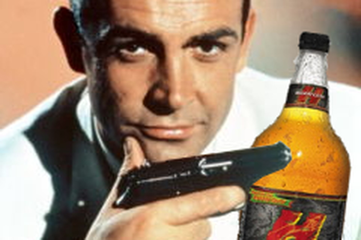 With Skyfall releasing, I figured it was time for Mr. Connery to enjoy some malt liquor
