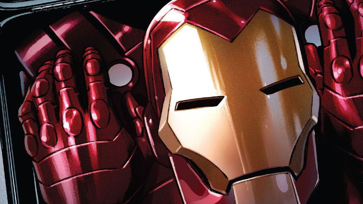 """""""Oh my god,"""" Hellcat says sarcastically when presented with Tony's new Iron Man costume, """"It's really true. You're Iron Man."""" """"Very funny,"""" he responds, in Iron Man #1, Marvel Comics (2020)."""
