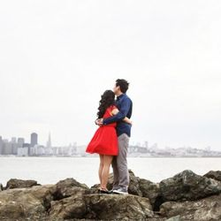 """The city views from <strong>Treasure Island</strong> showcase a couple's love for SF. Take the time to explore the location in advance to make the decision to shoot here all the more meaningful. [Photo from <a href=""""http://ryonlockhart.com/"""">Ryon:Lockhart"""