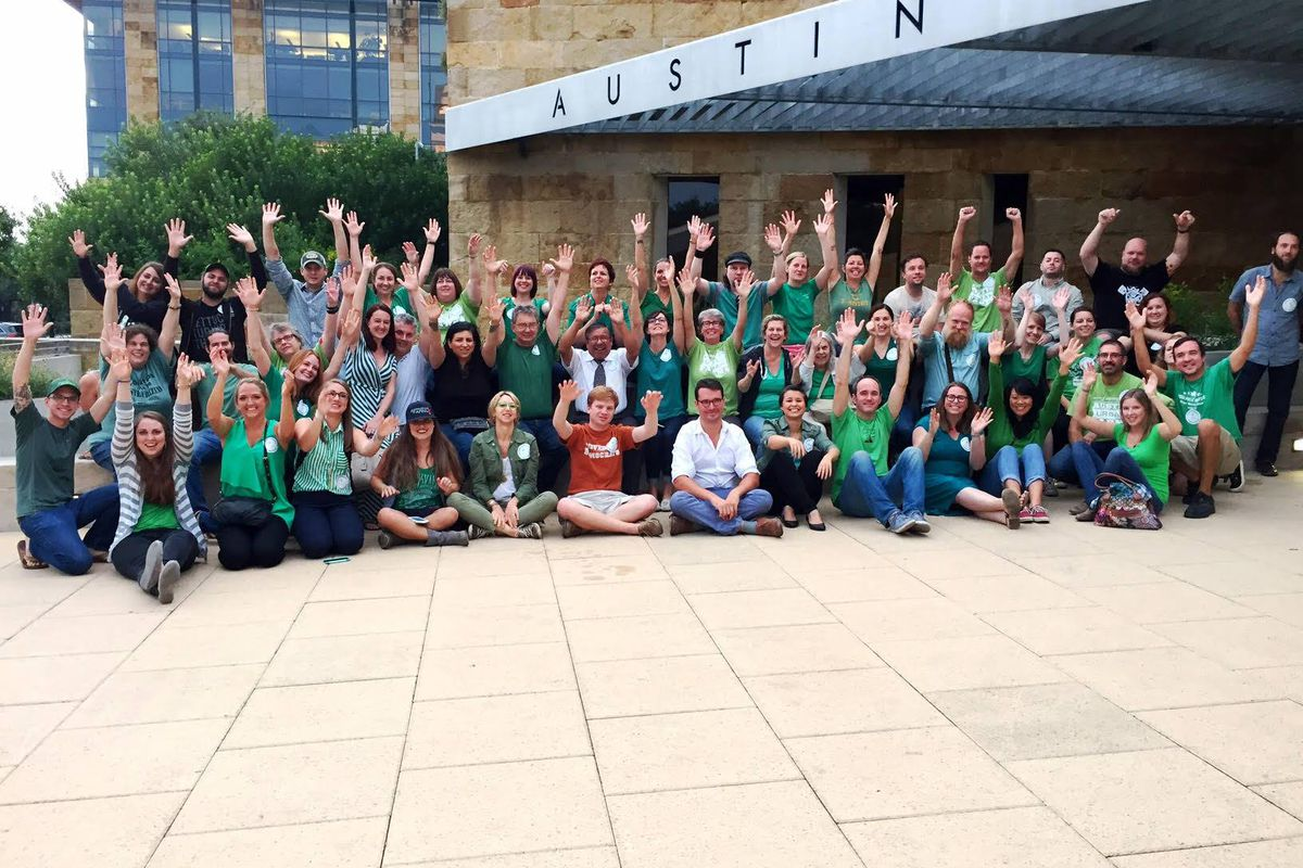 Springdale Farm supporters at Austin City Hall
