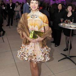 "Laura Kofoid, owner of Laudi Vidni dressed beautifully in Christopher Kane. ""Vegetable."""