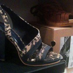 Rachel Comey leopard print heels, $89 from $375