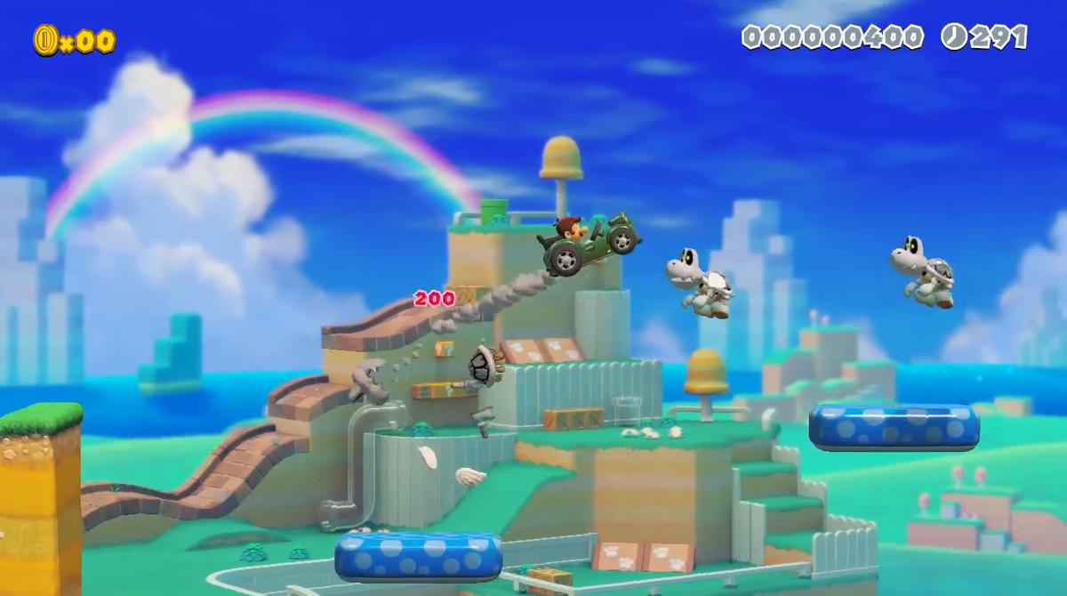 Super Mario Maker 2 car jump
