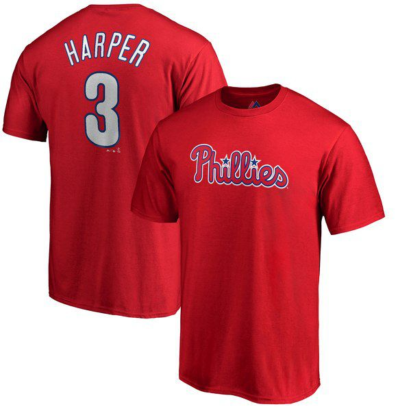 03a62790597 Bryce Harper Majestic Big   Tall Name   Number T-Shirt - Red for  31.99  Fanatics