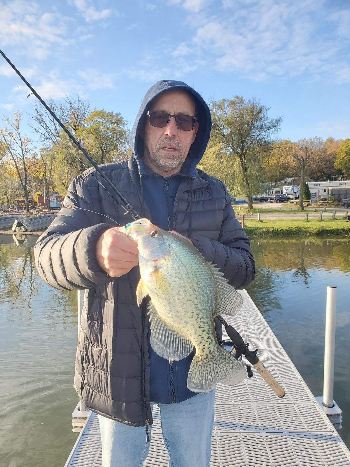 Ben Thompson with a nice crappie from Fish Lake. Provided by Bob France