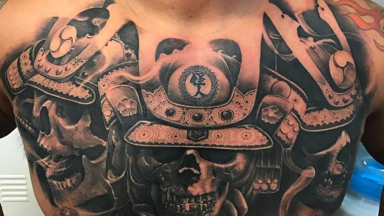 MMA behold  to new Hunt's tattoo chest Mark - something is