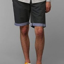 """We love the subtle roll-up colorblocking on these otherwise simple shorts. $49, <a href=""""http://www.urbanoutfitters.com/urban/catalog/productdetail.jsp?id=28672574&parentid=M_APP_SHORTSSWIM_SHORTS"""">Urban Outfitters</a>"""