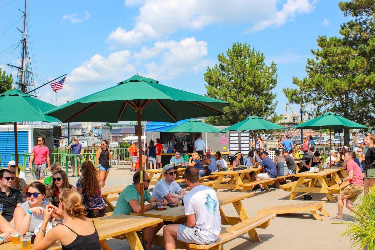Castle Island's Constitution Wharf beer garden