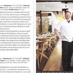 Triniti's Greg Lowry and Stephanie Perkins in Wine Specator's December 2014 issue.