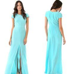 "Jenni Kayne cap sleeve silk gown, <a href=""http://www.shopbop.com/capsleeve-silk-gown-jenni-kayne/vp/v=1/845524441937406.htm"">$750</a>"
