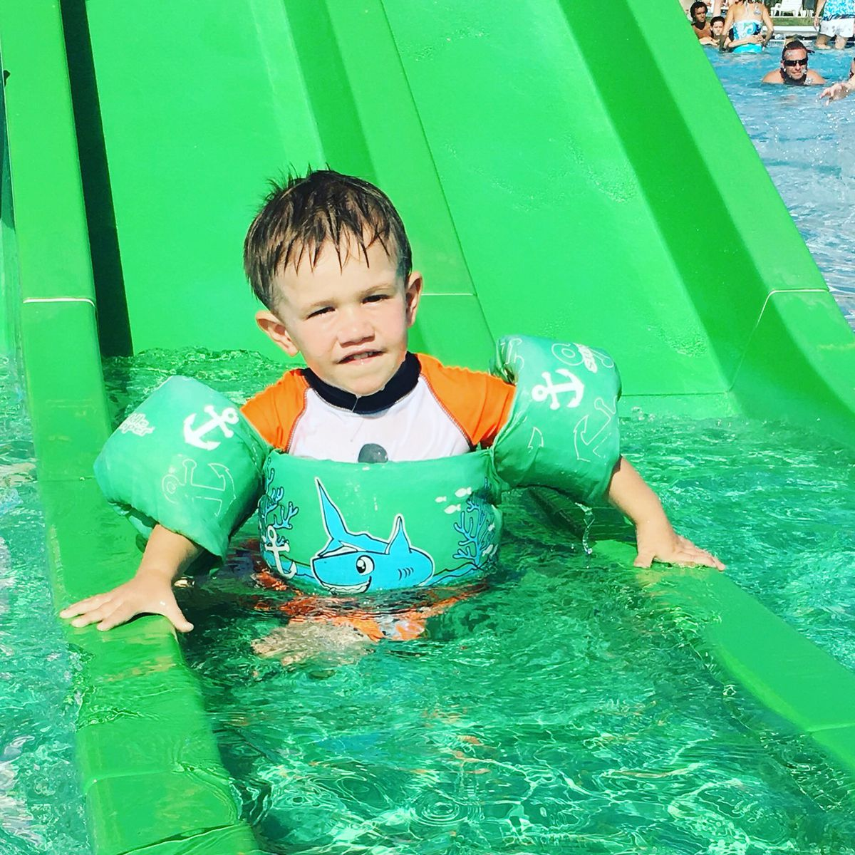 Levi Hughes loved his wraparound flotation device, but Nicole Hughes believes it gave her 3-year-old son a false sense of confidence. He drowned in 2018 on a family vacation.
