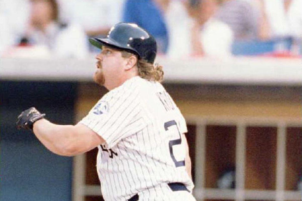 Chicago White Sox designated hitter John Kruk watc