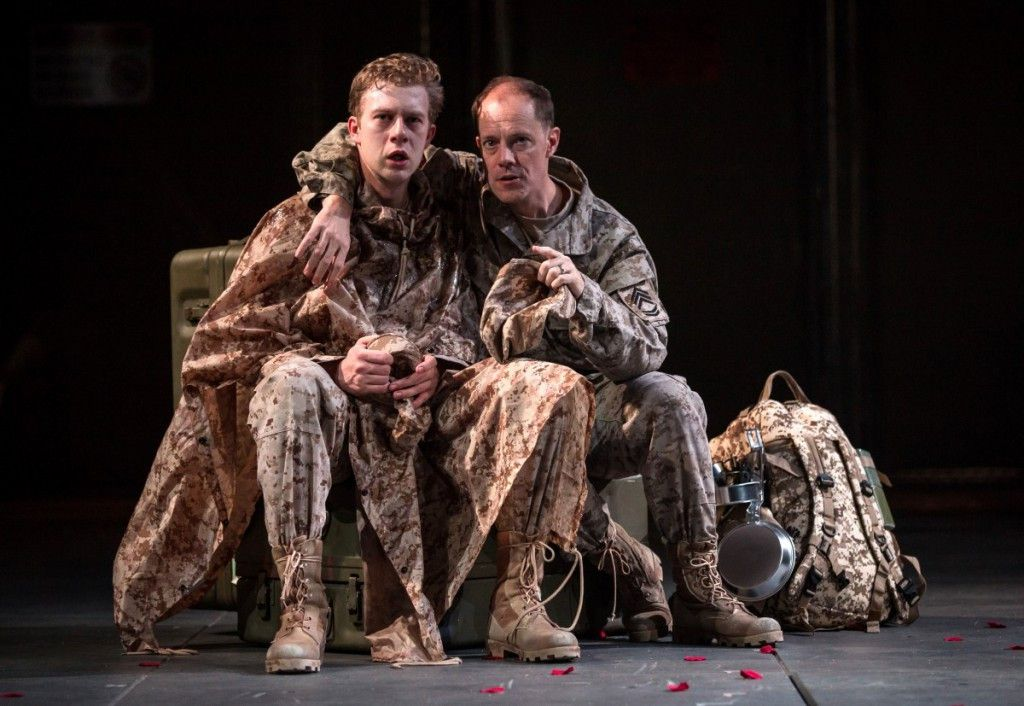 """Fred Geyer is Roderigo and Michael Milligan is Iago in the Chicago Shakespeare Theater production of """"Othello."""" (Photo: Liz Lauren)"""
