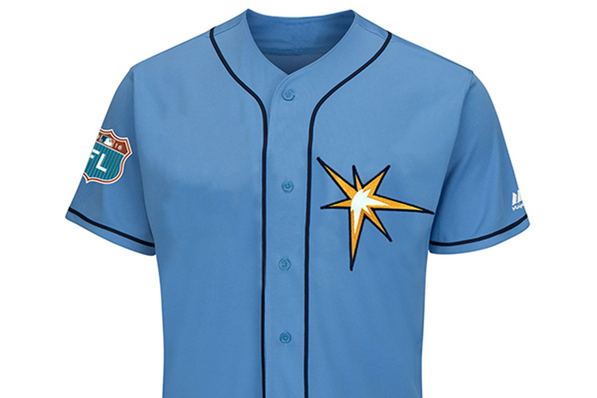 bee48039d20 Rays unveil Spring Training jersey featuring sunburst logo - DRaysBay