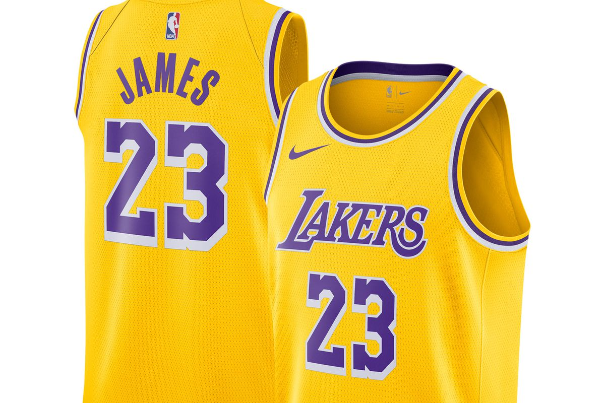 c9c42460fe44 Where you can get new Los Angeles Lakers and LeBron James Nike ...