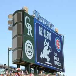 12:42 p.m. Classic display up on the left field video board -