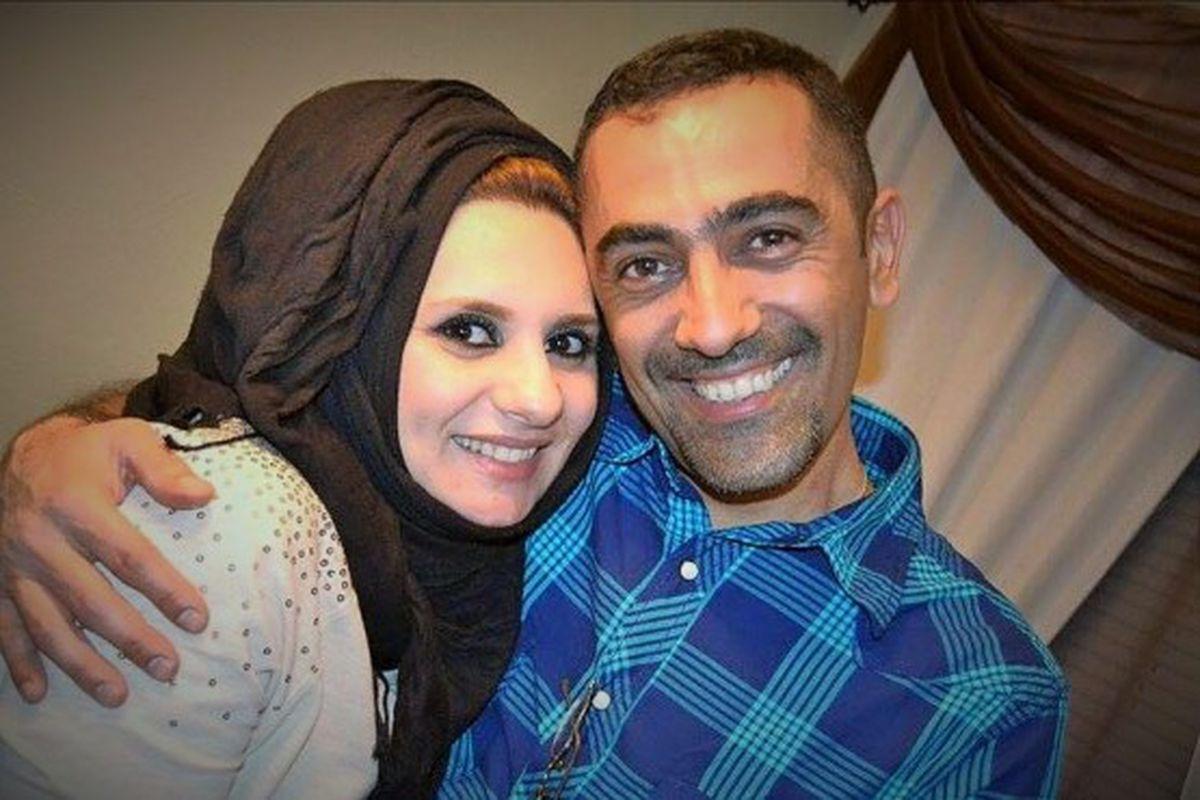 Ahmed Al-Jumaili with his wife, Zahara